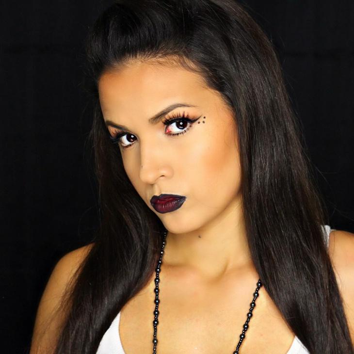 Beautiful Chola Lips and Eye Makeup