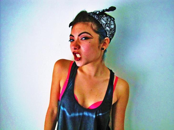 chola funny makeup