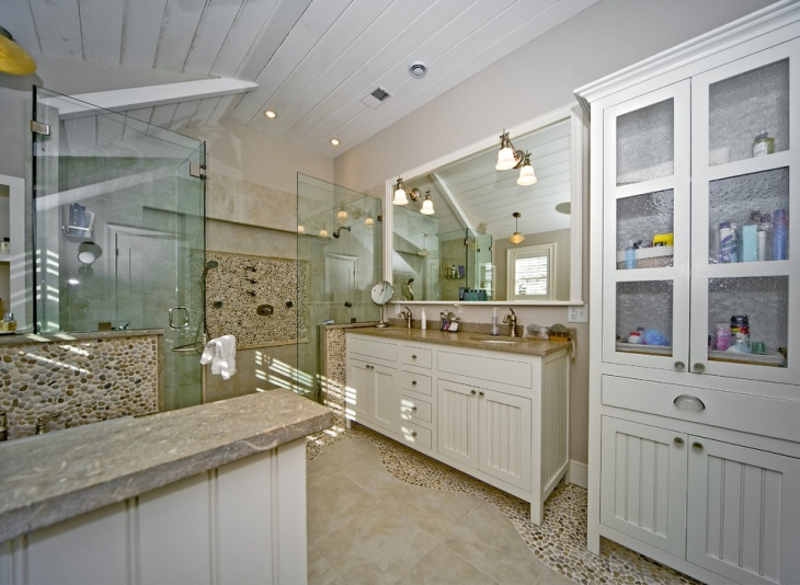 Awesome River Rock Bathroom Design