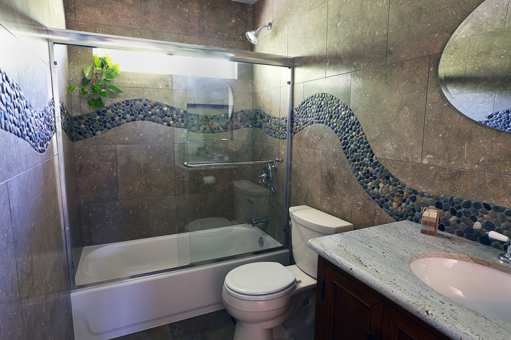 limestone wall tile bathroom