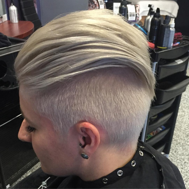blonde combover fade hair