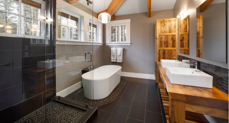 21+ River Rock Bathroom Designs, Decorating Ideas | Design ...