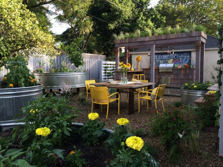 Urban Farm Backyard Garden Idea