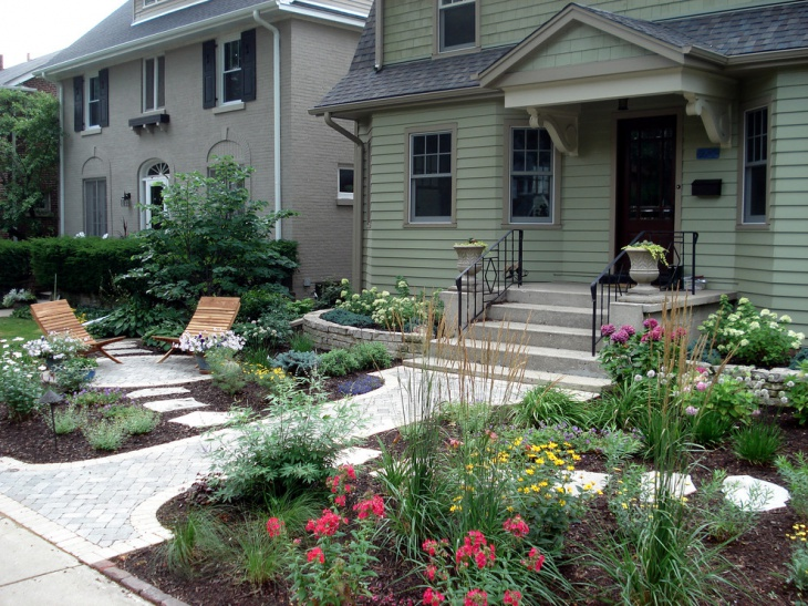 cottage garden with curb appeal
