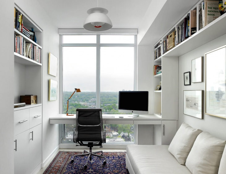 white scandinavian style home office - Design Home Office