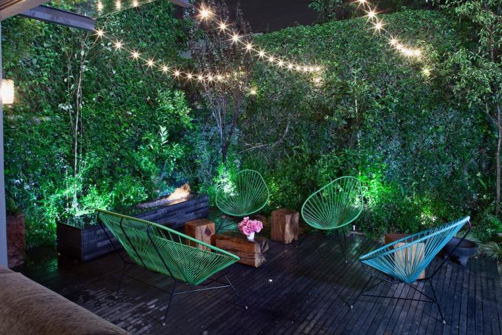 Lighting Contemporary Deck Garden
