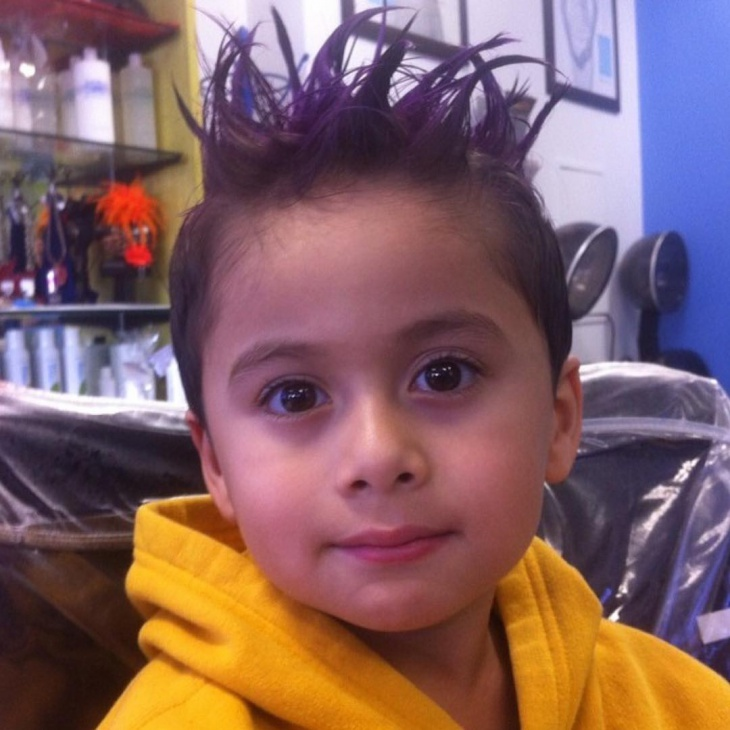 funky hairstyle for kid