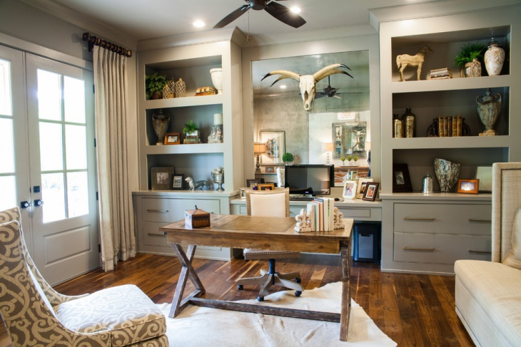 Farmhouse Home Office Furniture Idea