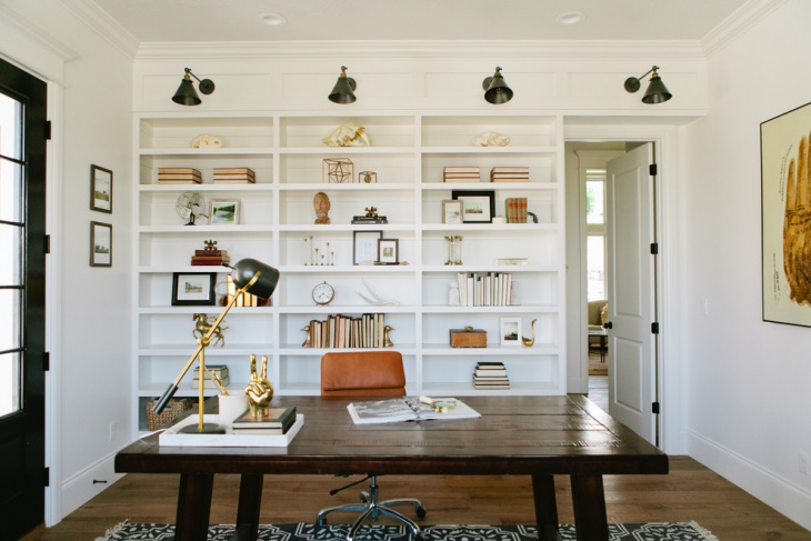 Modern White Farmhouse Home Office