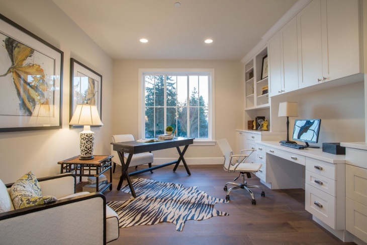 White Farmhouse Home Office