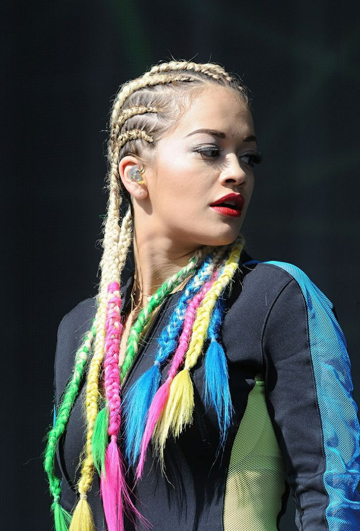 Rita Ora Box Braid HairStyle