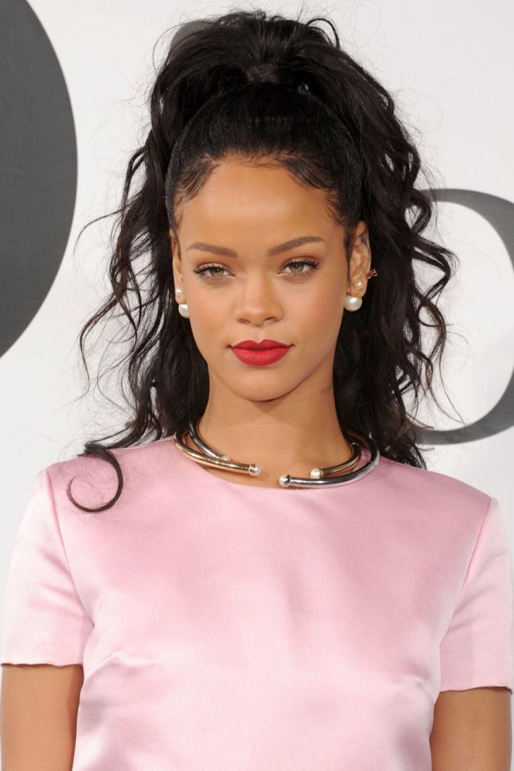 Rihanna Half Up Half Down Hair