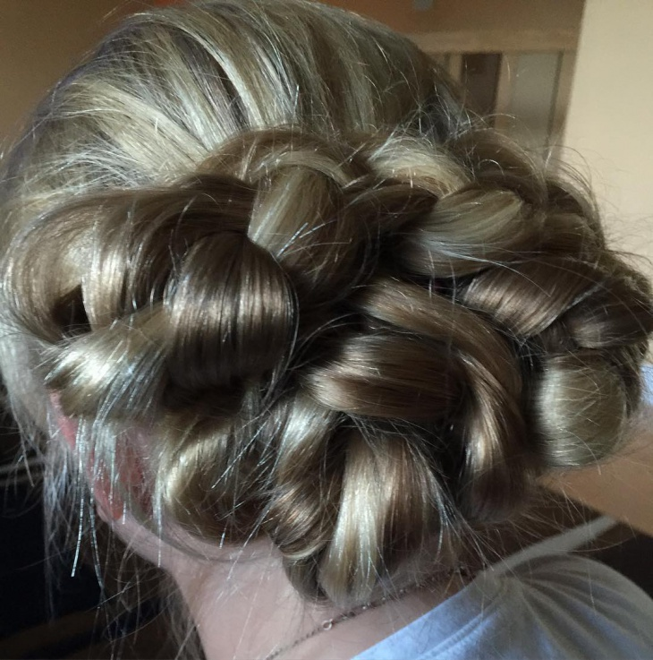 easy braided bun updo