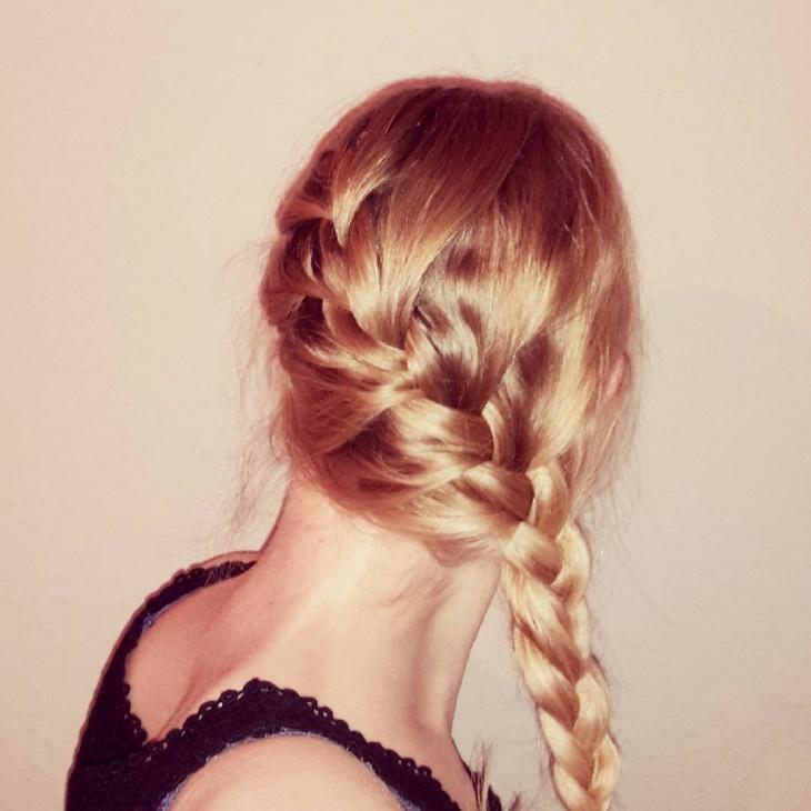 Blonde Side French Braid