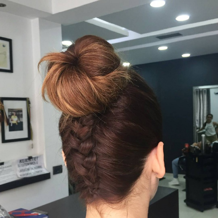braided twisted french hairstyle
