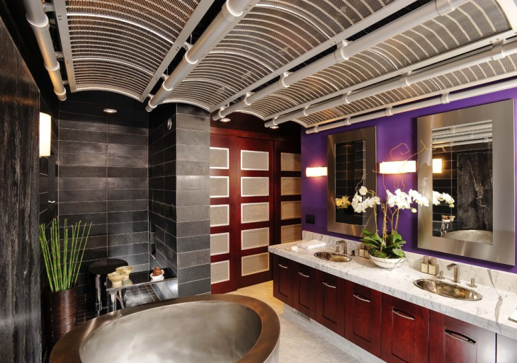 creative bathroom with double vanity