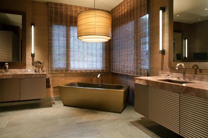 lavish zen bathroom idea