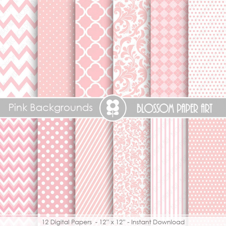 pink textures digital paper pack