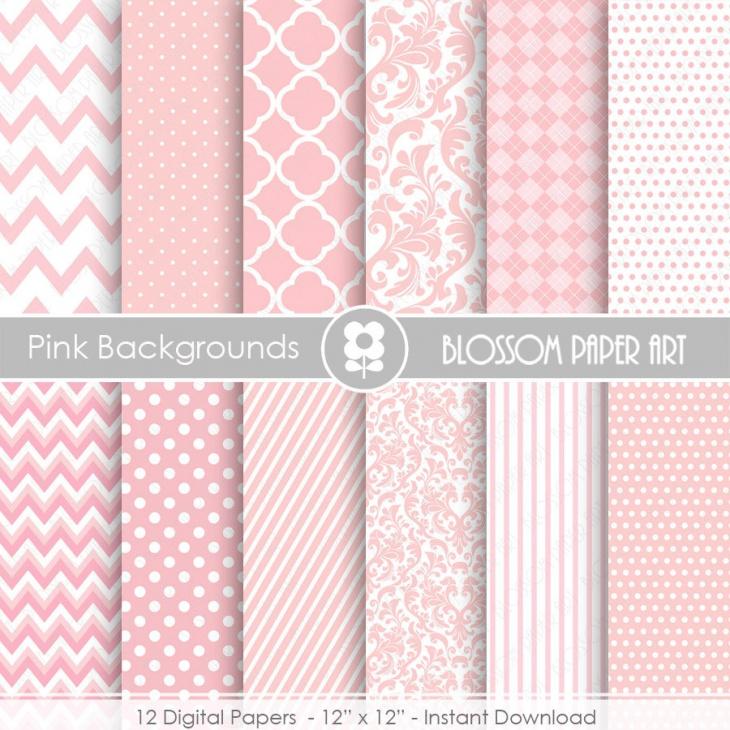 Pink Textures Digital Paper Pack