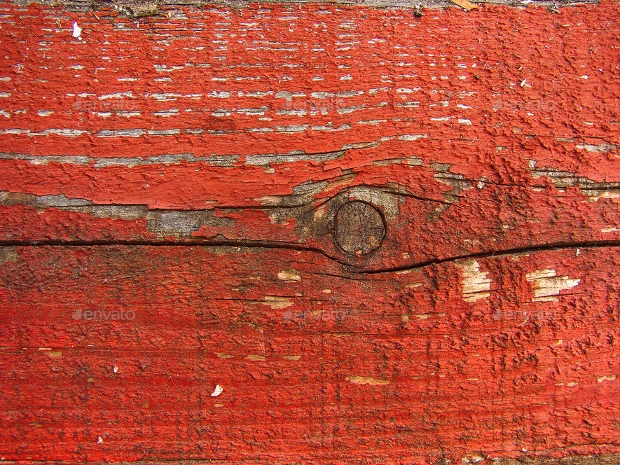 Old Red Painted Wood Texture