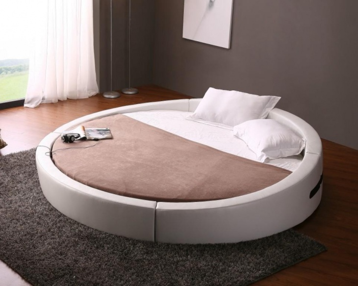 versatile white leather bed design