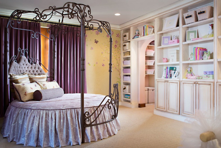 Girls Bedroom with Decorative Wall