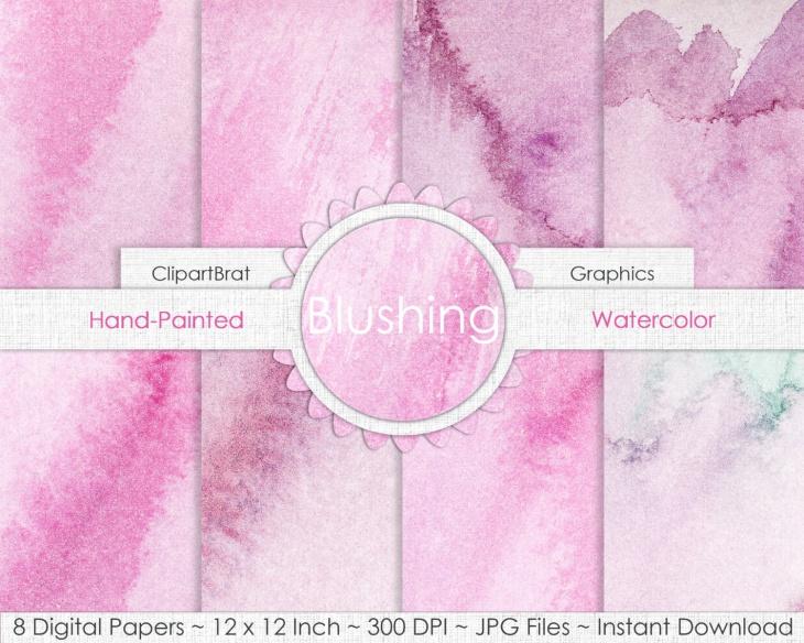 Blushing Pink Watercolor Texture