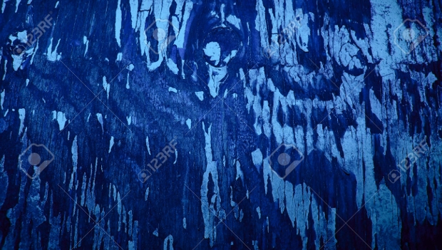 Blue Old Painted Wood Texture
