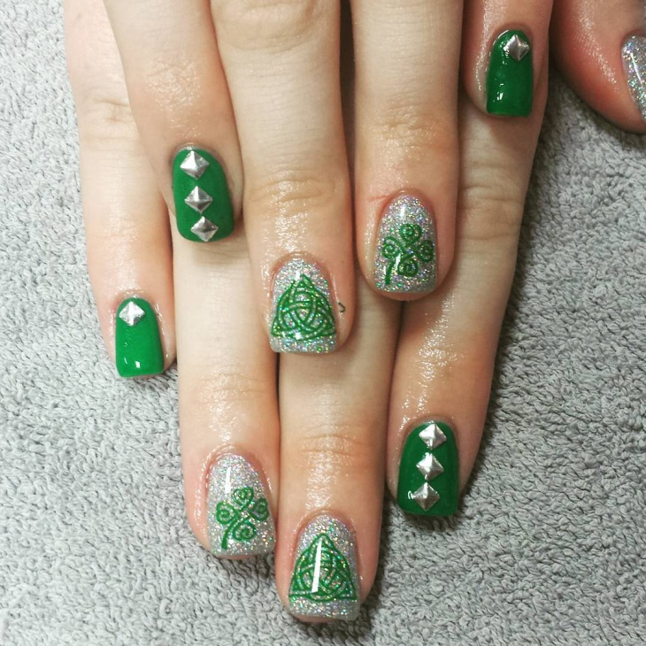 21 Shamrock Nail Art Designs Ideas Design Trends Premium Psd