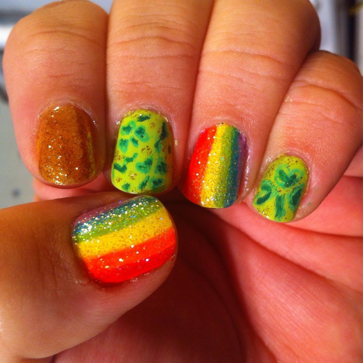colorful nail art idea1