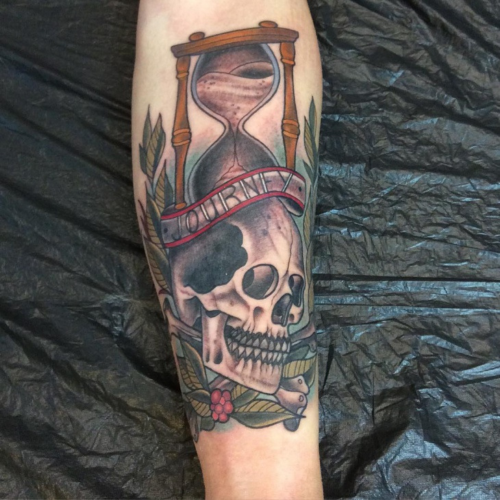 skull hourglass