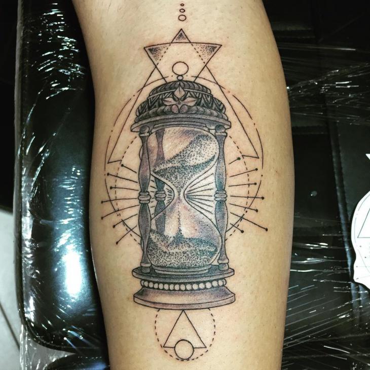 Tribal Hourglass Tattoo