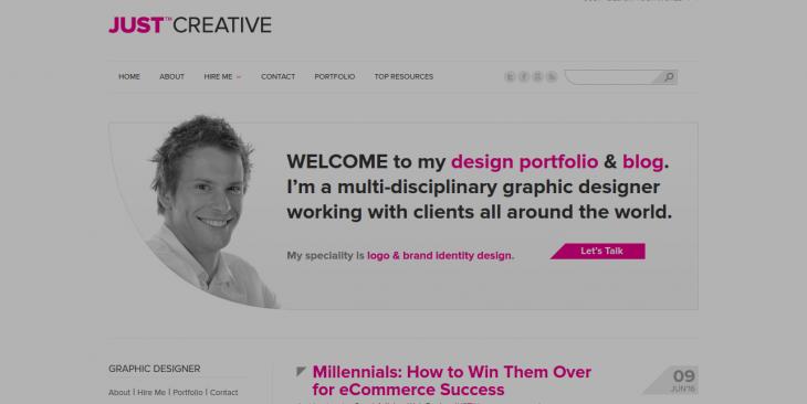 JUST™ Creative Graphic Designer Logo Brand Identity Specialist