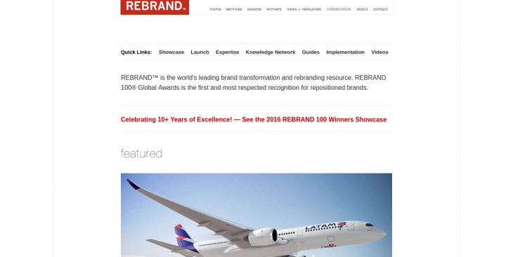 REBRAND Worldwide leading brand transformation and rebranding resource REBRAND 100 Global Awards