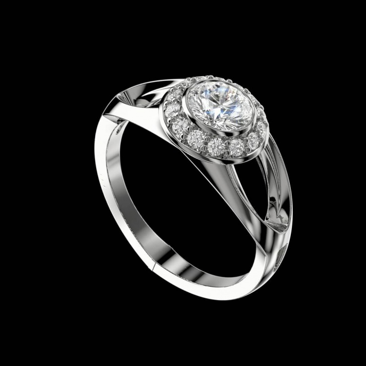 silver platinum diamond ring