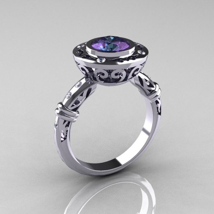 modern antique platinum ring2