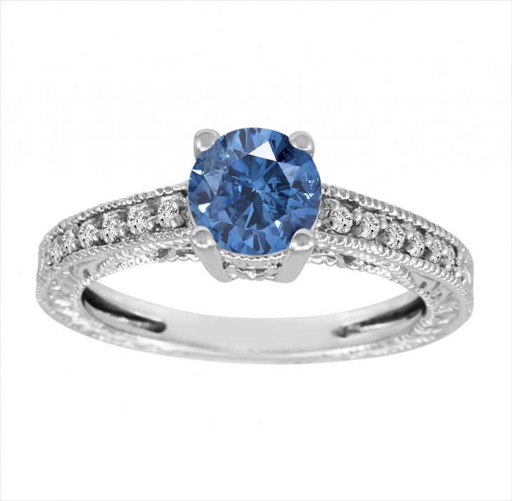 platinum fancy blue diamond ring3