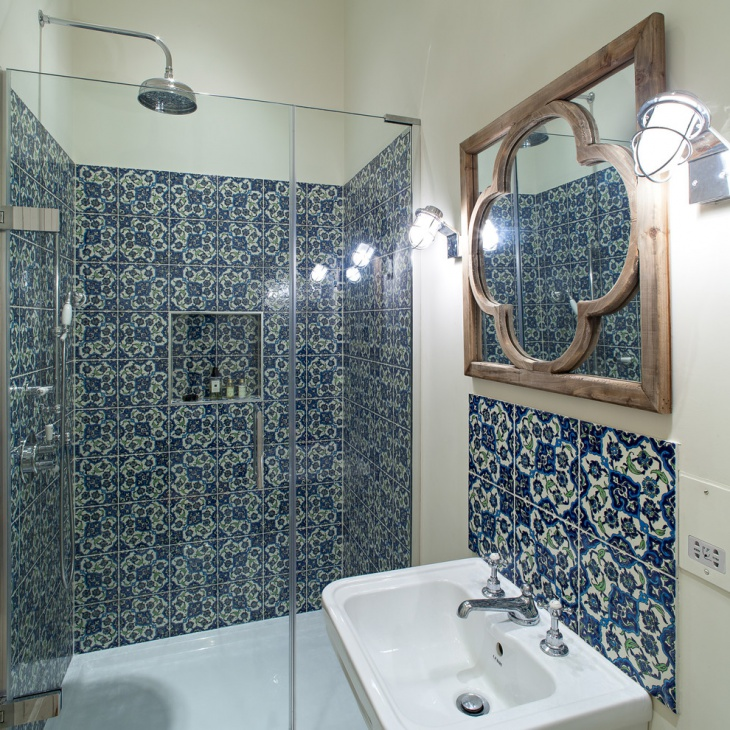Traditional Blue Bathroom Designs : 21+ Blue Tile Bathroom Designs, Decorating Ideas  Design Trends
