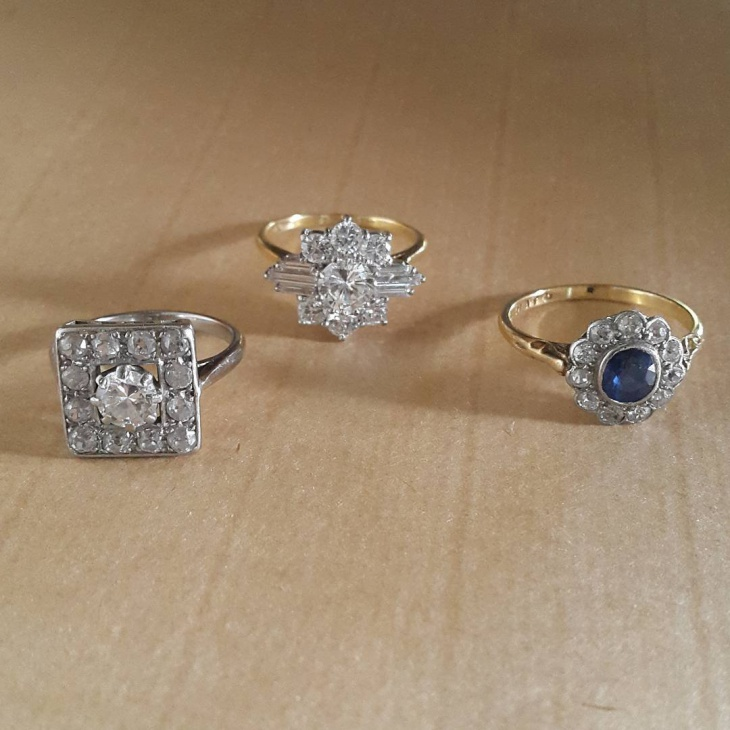 antique platinum engament rings