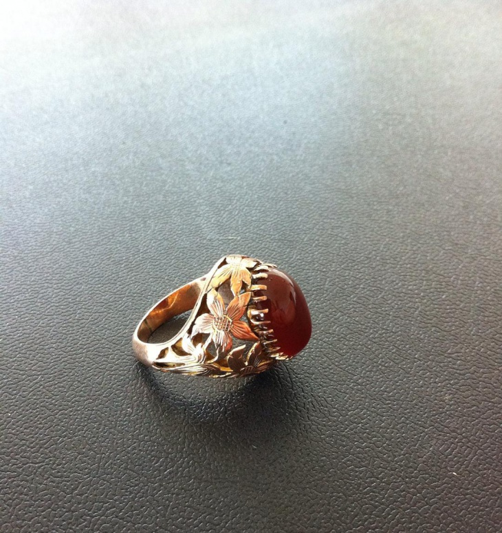 rose gold antique ring design