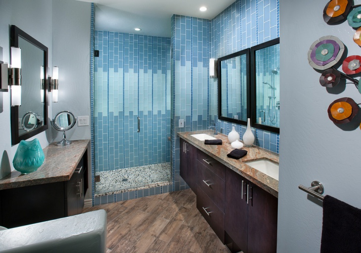 sophisticated bathroom with double vanity