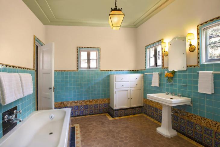 Designed Tiles Bathroom Idea