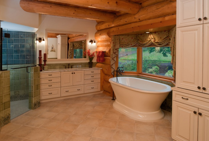 Rustic Bathroom Design For Cottage