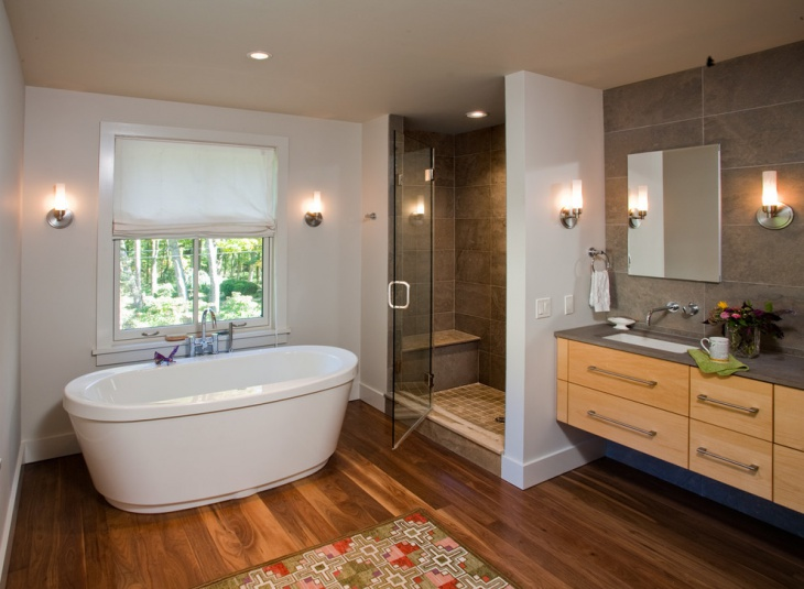 21 cottage bathroom designs decorating ideas design for Minimalist cottage style