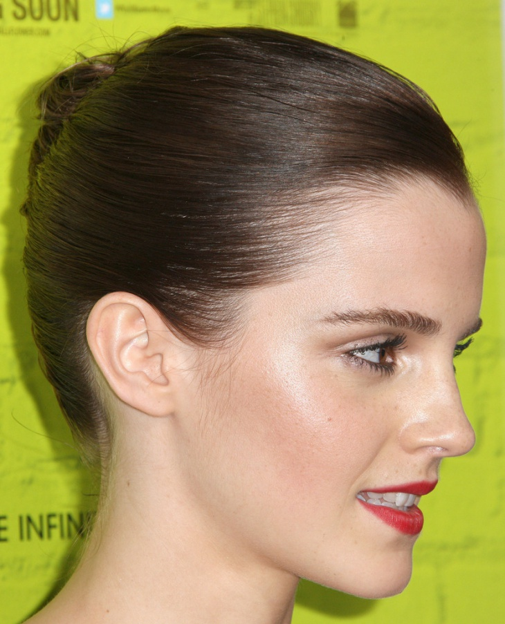 emma watson simple hair updo