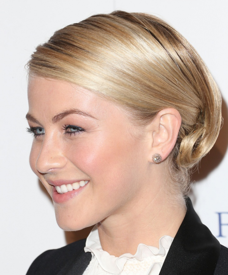 julianne hough sleek updo