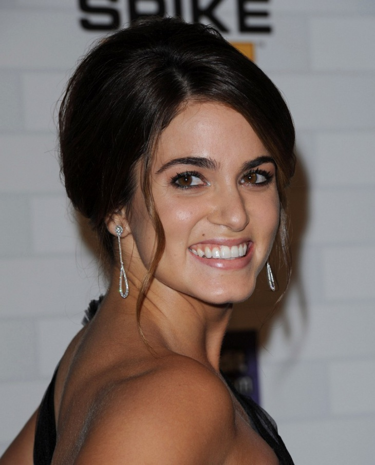 Nikki Reed Messy Short Hair Twist
