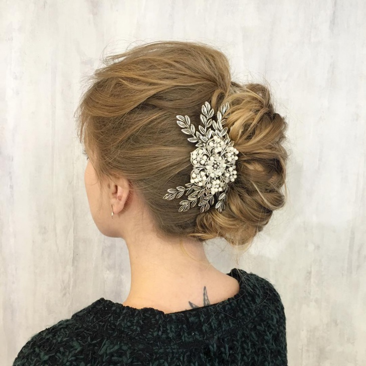 French Twist Wedding Hair