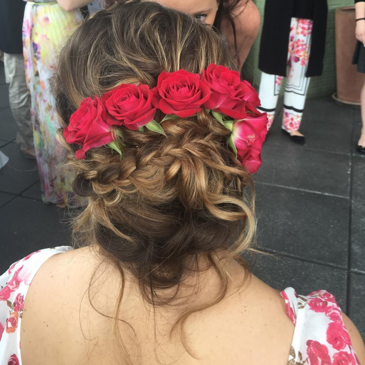 beautiful french twist braided hairstyle