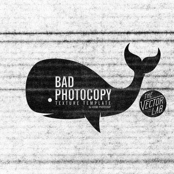 bad photocopy photoshop texture template